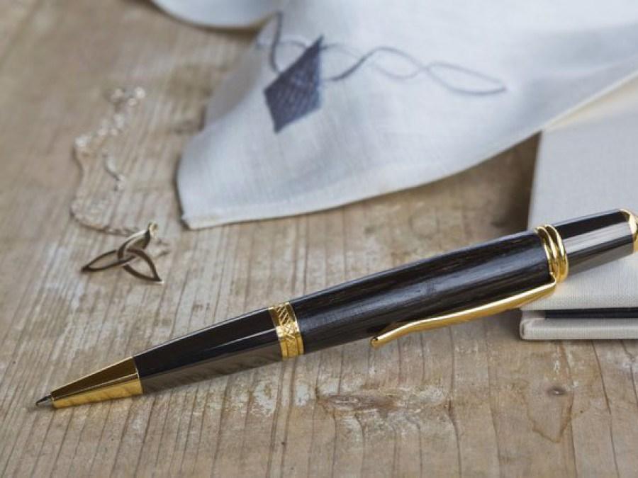 Sierra Elegant Gold Pen Mooreichenholz