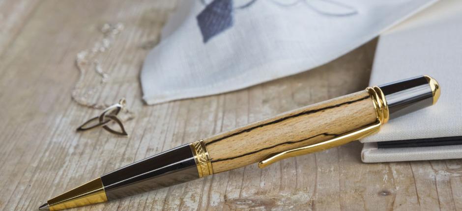 Kugelschreiber Sierra Elegant Gold Buche mit Stockflecken